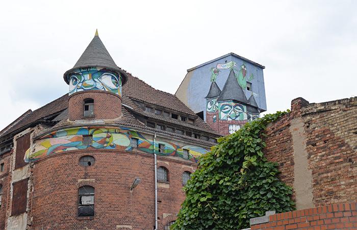 Saale street art Halle Saxen