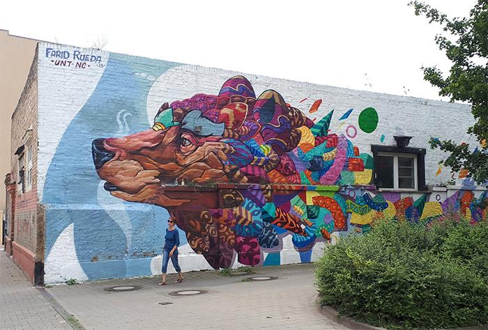Farid Rueda street art Halle