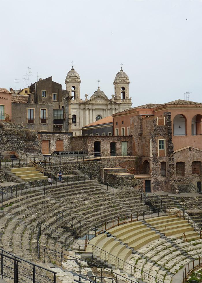 catane sicile gradins romain