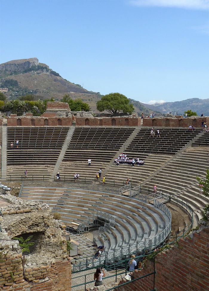 sicile taormine theatre grec