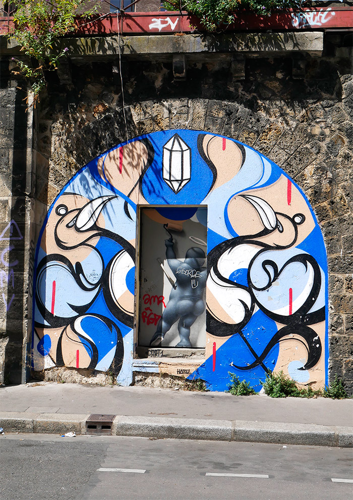 azul street art Cart1 Paris