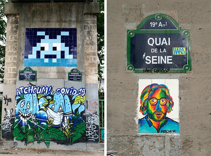 quai de la seine invader street art