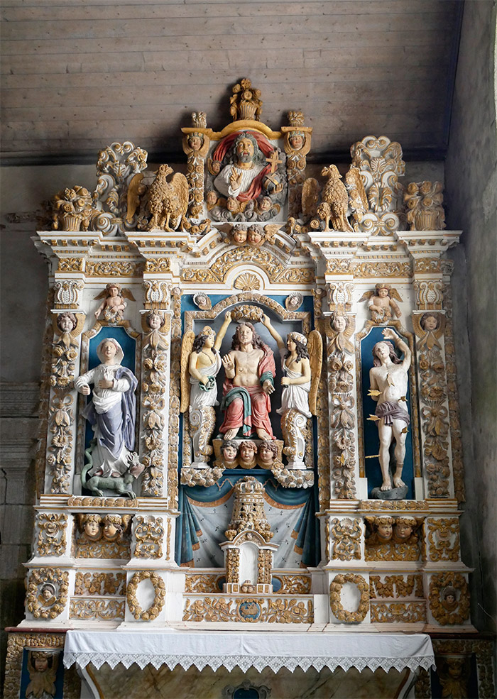 retable des cinq plaies saint derrien finistere