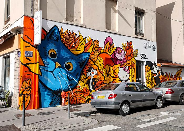 bur artiste lyon montchat street art