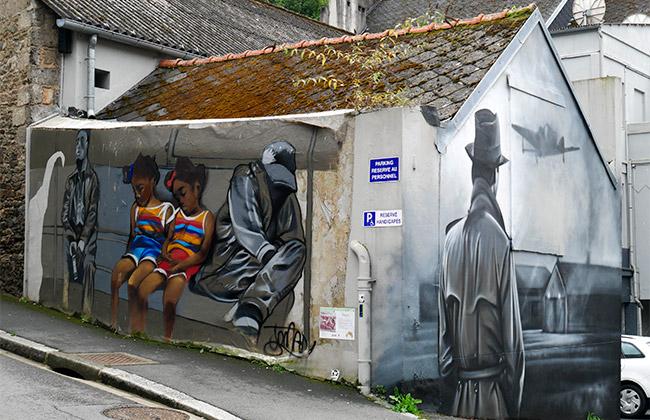morlaix finistere street art