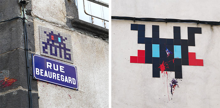 invader was here clermont ferrand