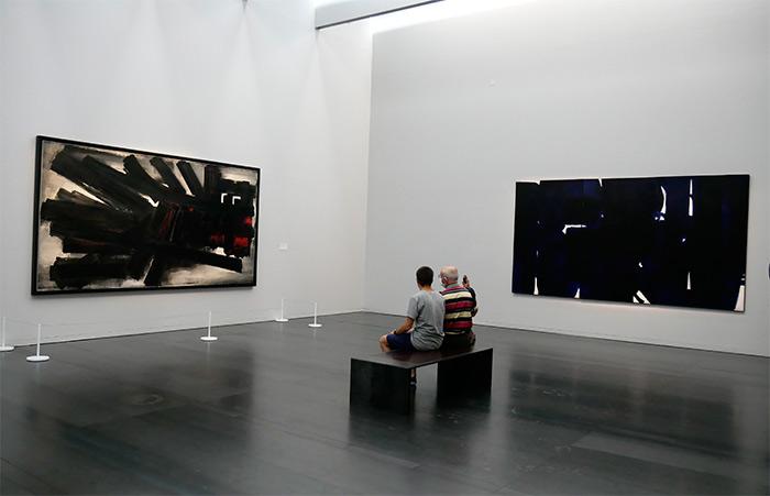 peintre soulages musée Rodez