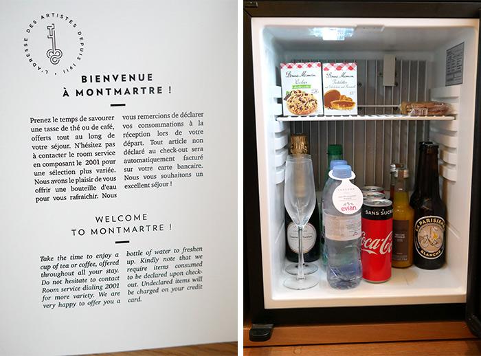 terrass hotel paris minibar chambre