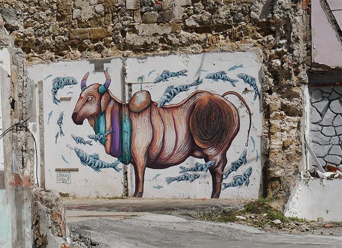 Loraine Cobalt martinique street art