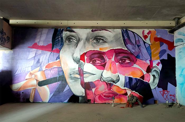 ensemble réel street art