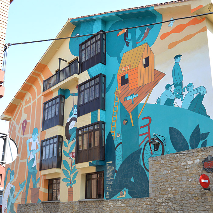 vitoria gasteiz ville peinte art bizi