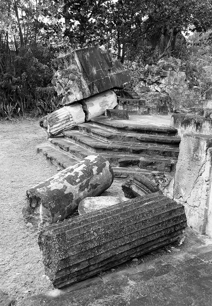 ruines église du fort saint pierre martinique