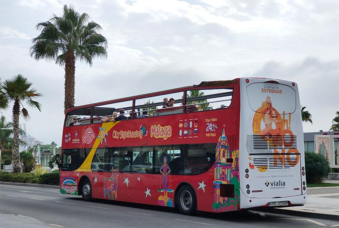 malaga bus rouge city