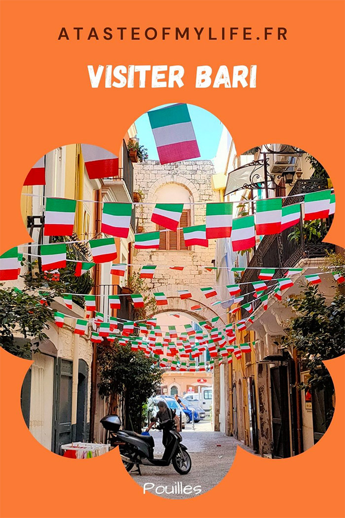 drapeau italien visite pouilles bari