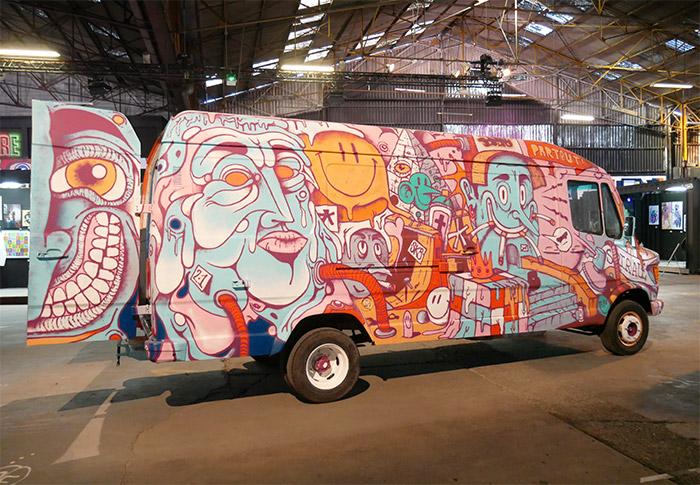 van street art lyon peinture fraiche